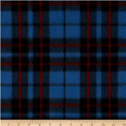 Fleece Prints Miles Plaid Royal Fabric