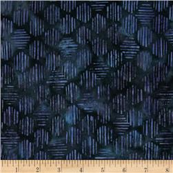 Bali Batiks Handpaint Striped Hexagon Iris