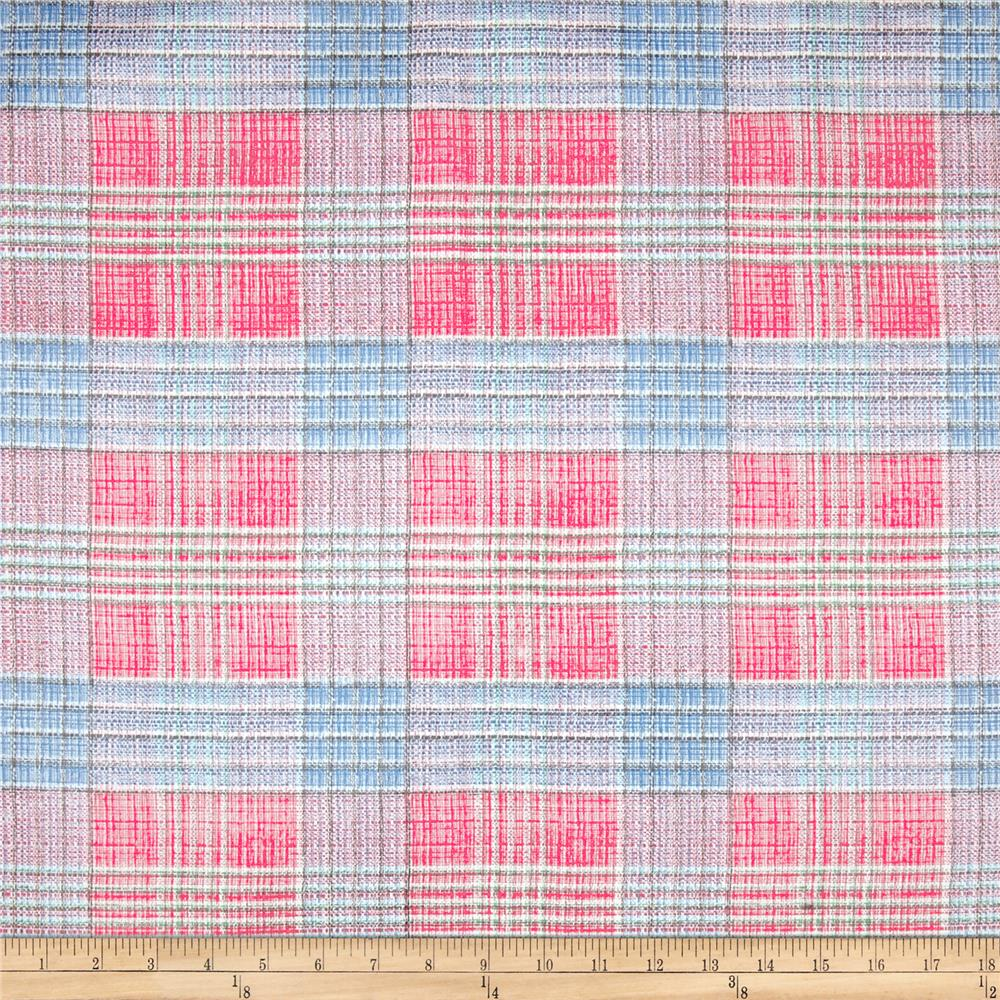 Oilcloth Tartan Plaid Red