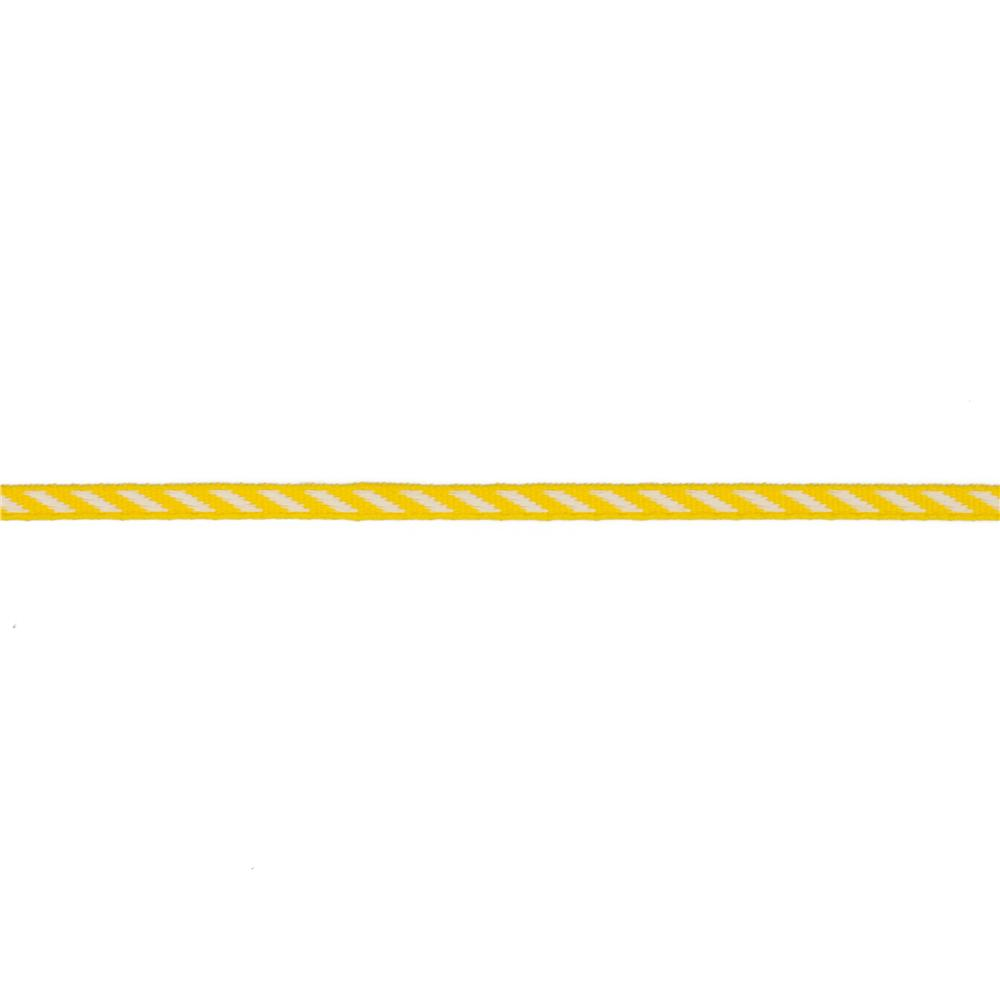 1/8'' Grosgrain Ribbon Diagonal Stripe Yellow