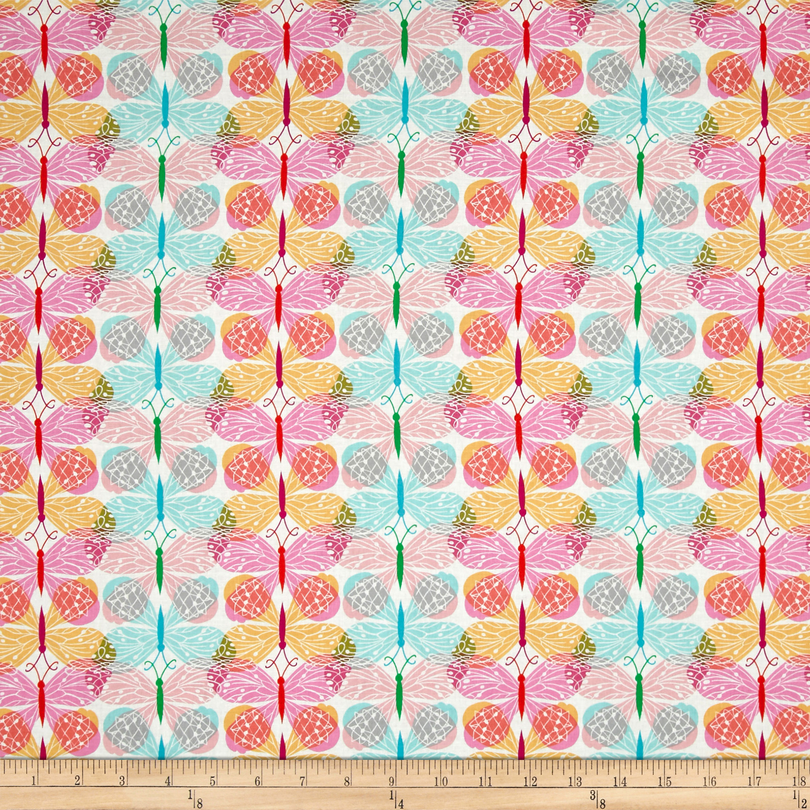 Image of Cotton + Steel Beauty Shop Good Luck Pink Fabric