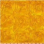 Splenda Satin Ribbon Rosette Yellow