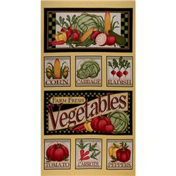 Farm Fresh Vegetable Panel Yellow