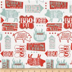 Ribs & Bibs Open Pit White Fabric