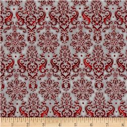 Kaufman Winter's Grandeur 4 Metallics Damask Winter