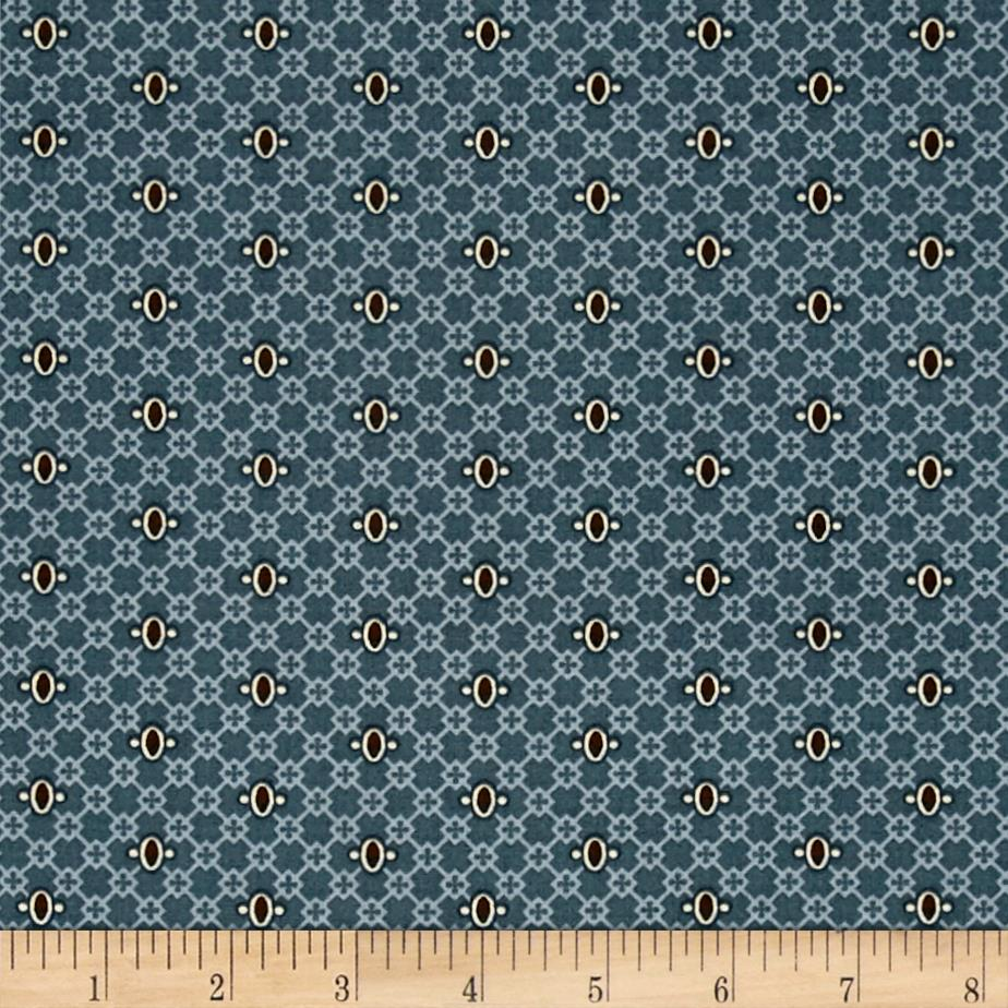 Windham Threads of Time Lattice Dot Blue