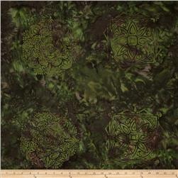 Bali Batiks Handpaints Ethnic Medallion Tile Jungle Fabric