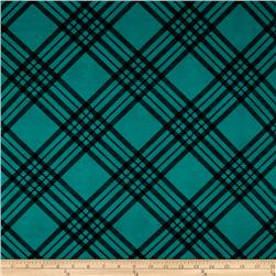 Ponte de Roma Knit Plaid Green