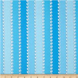 Bazoople Pirates Nursery Wavy Stripe Blue