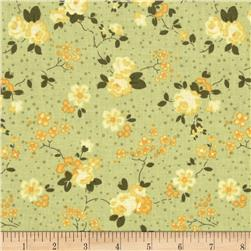 Rebecca's Rose Small Floral Light Green