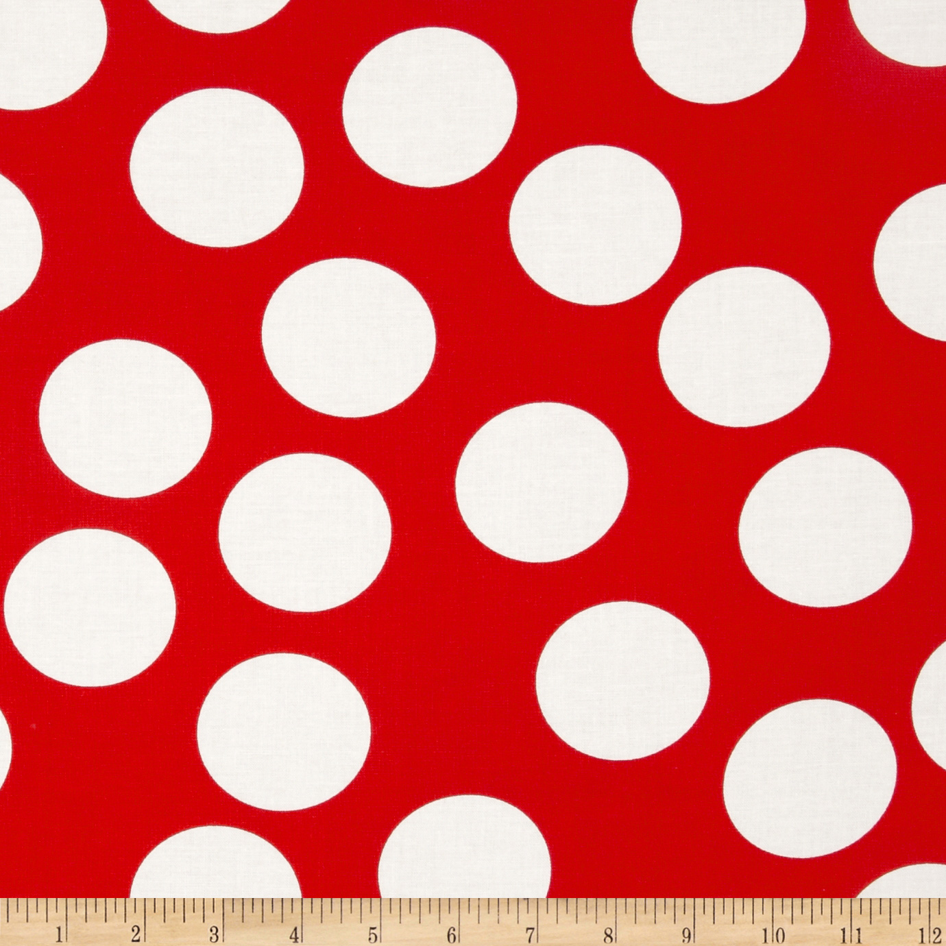Moda Half Moon Modern Big Dot Red Fabric