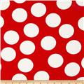 Moda Half Moon Modern Big Dot Red