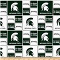 Collegiate Cotton Broadcloth Michigan State University Green