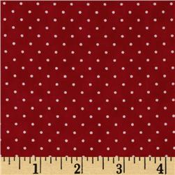 Moda Essential Dots (# 8654-52) Christmas Red Fabric