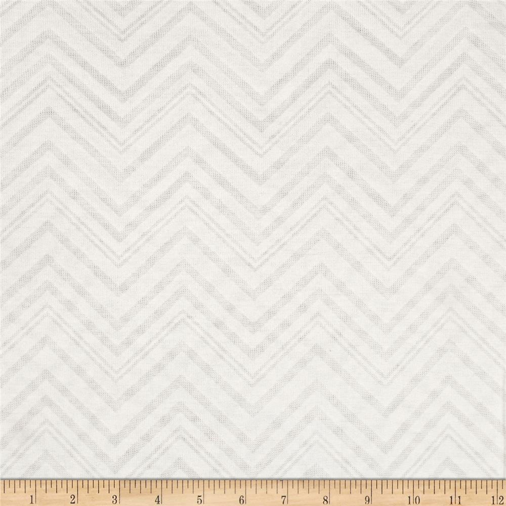 Lightweight Sweater Knit Chevron Ivory