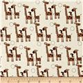 Riley Blake Giraffe Crossing 2 Giraffes Brown
