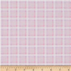 Kanvas Bunny Hop Soft Plaid Cotton Candy