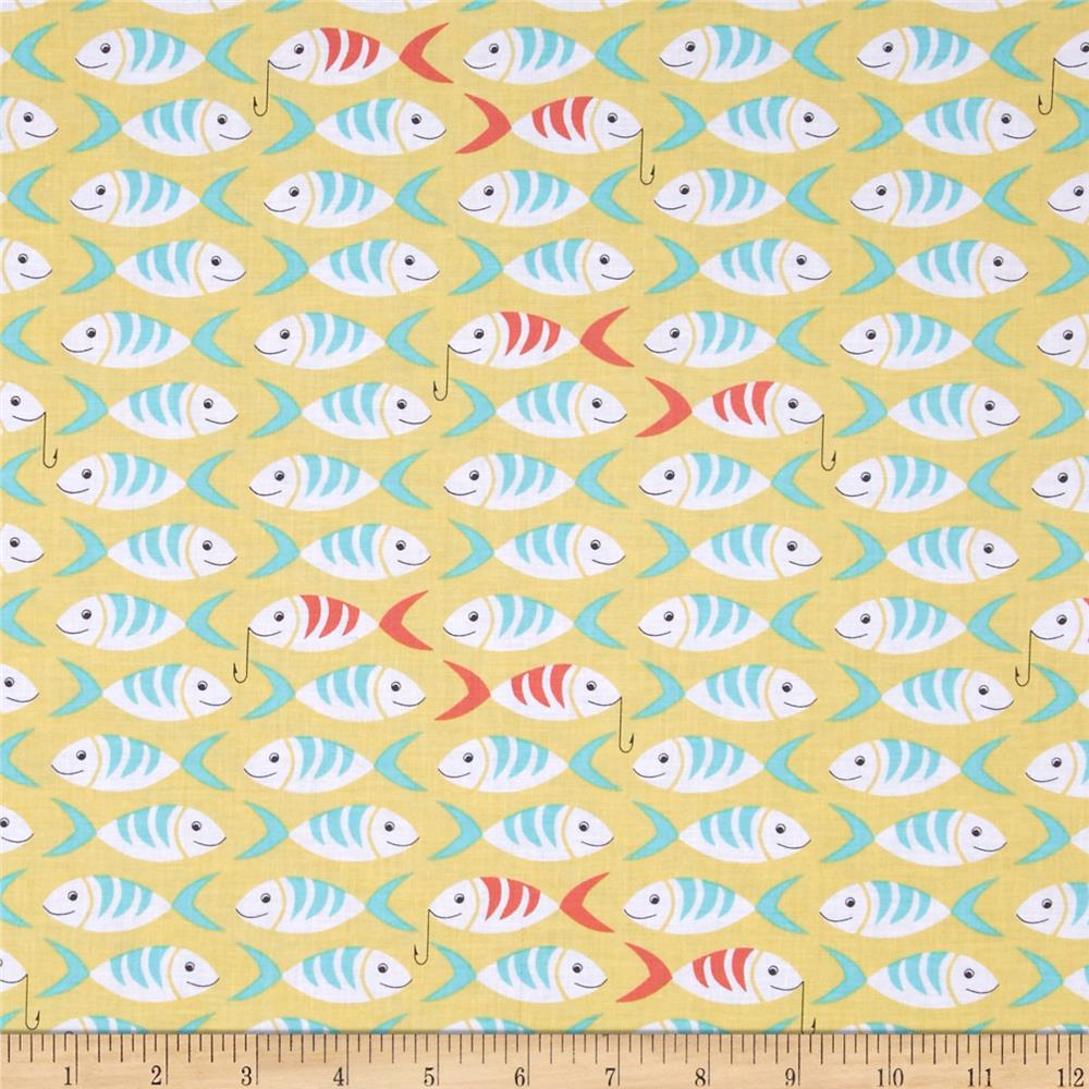 Michael Miller Sea Buddies Little Fishes Straw