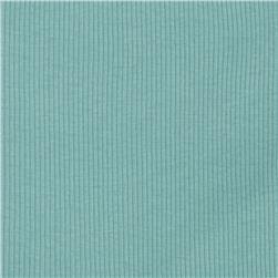Cotton Rib Knit Light Blue