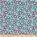 Graphix 3 Allover Hexagons Mint/Pink