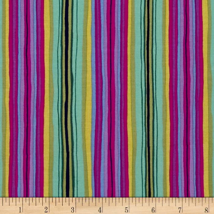 Michael Miller Sea Holly Ribbon Stripe Magenta