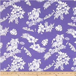 Aunt Polly's Flannel Hawaiian Print Lilac