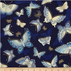 Imperial Collection Metallics Butterflies Indigo