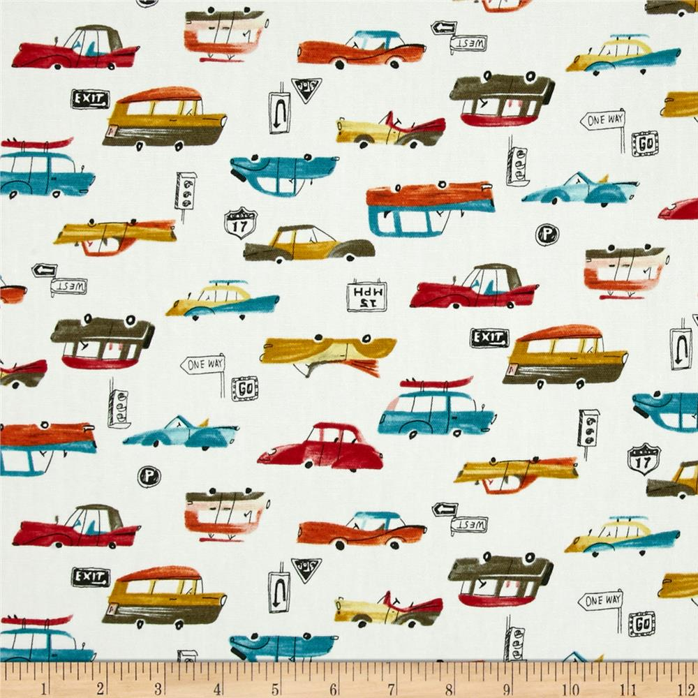 Seven Islands Classic Cars Canvas White