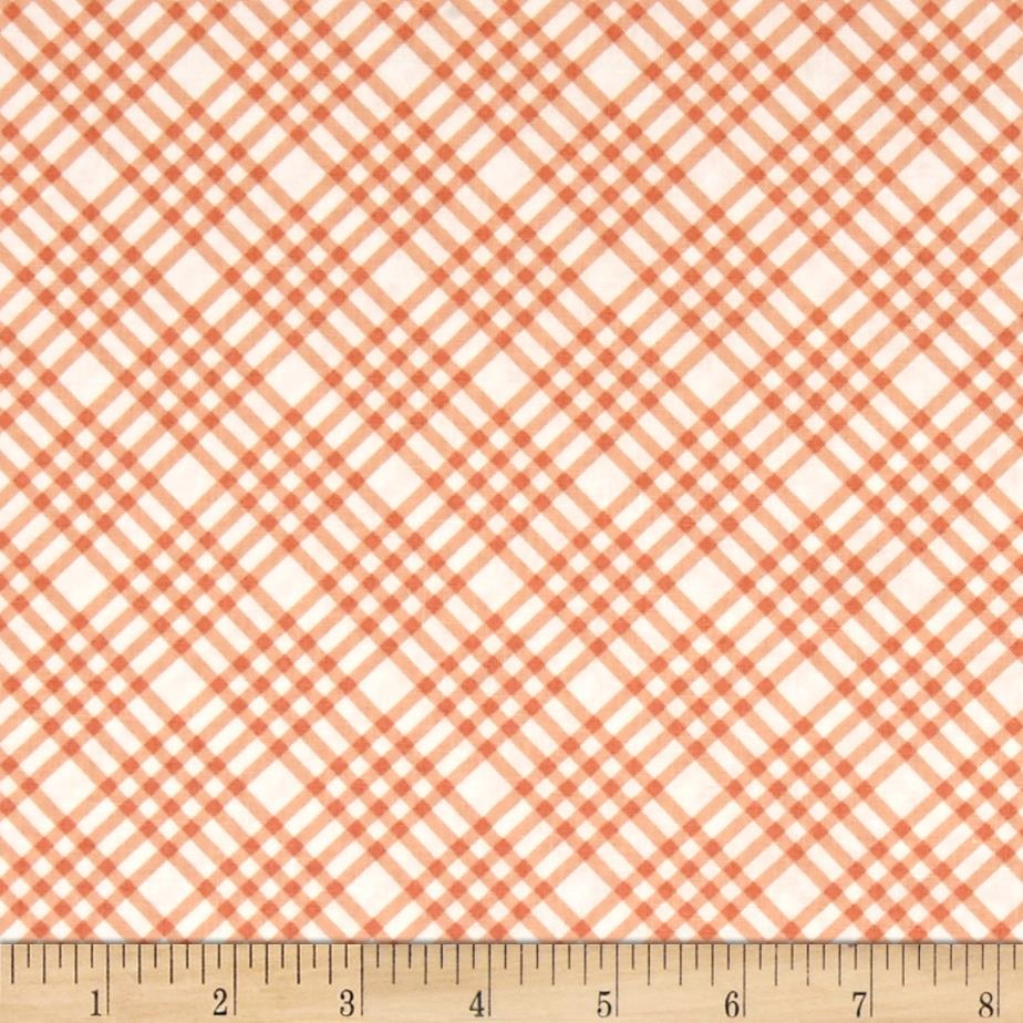 Flourish Plaid Peach