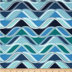 Robert Kaufman Vantage Point Wavy Stripe Sea Glass