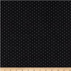 Kaufman Cotton Chambray Dots Black Fabric