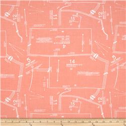 Riley Blake Sew Charming Sew Patterns Coral