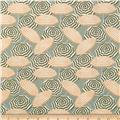 Kanvas Cabana Umbrella Stripe Sage/Peach