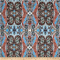 Liverpool Double Knit Tropical Paisley Blue