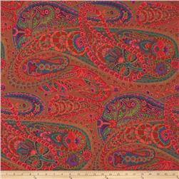 Kaffe Fassett Collective Paisley Jungle Rust Fabric