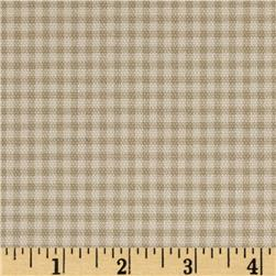 Small Check Ivory/Tan Fabric