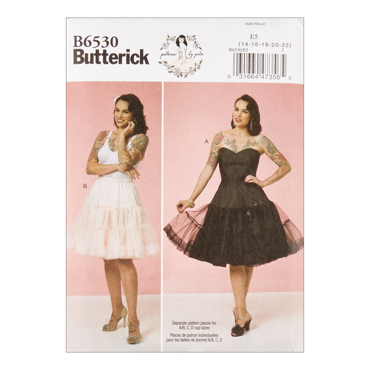 1950s Sewing Patterns | Dresses, Skirts, Tops, Mens Butterick B6530 Patterns by Gertie Misses Full Slip and Petticoat A5 Sizes 6-14 $11.97 AT vintagedancer.com