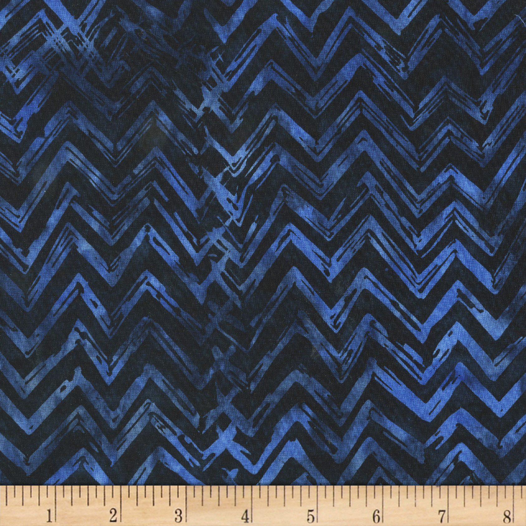 Anthology Batiks Chevron Deep Sea Fabric