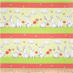 Bert & Beatrice Bunny Stripe Green