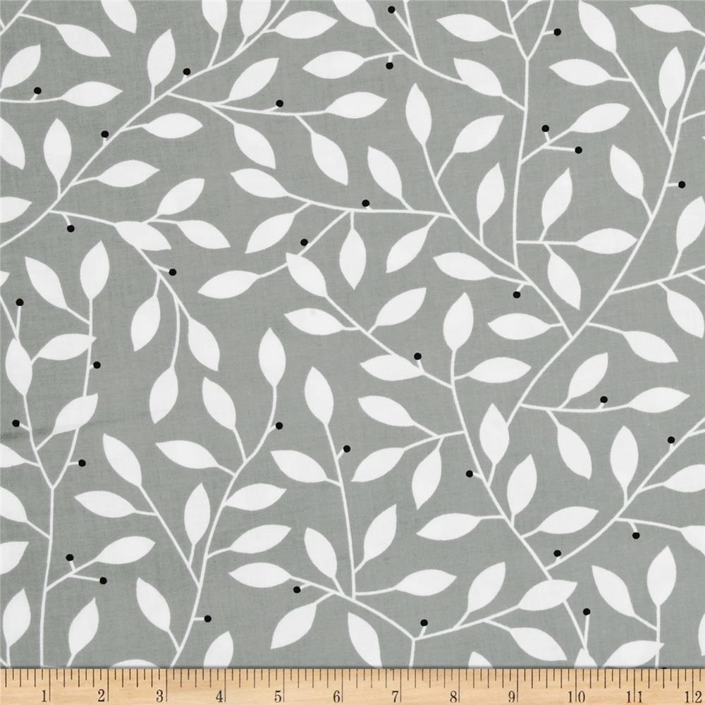 Contempo Cosmopolitan Leaf Vine White/Grey