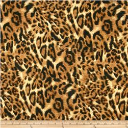 Swim Stretch ITY Jersey Knit Cheetah Brown