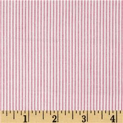 Micro Seersucker Shirting Stripes Pink/White