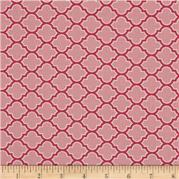 Joel Dewberry True Colors Lodge Lattice Pink Fabric