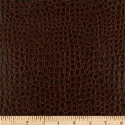 Faux Leather Crocodile Brown Fabric