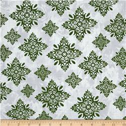 Seasons Greetings Large Medallion Green