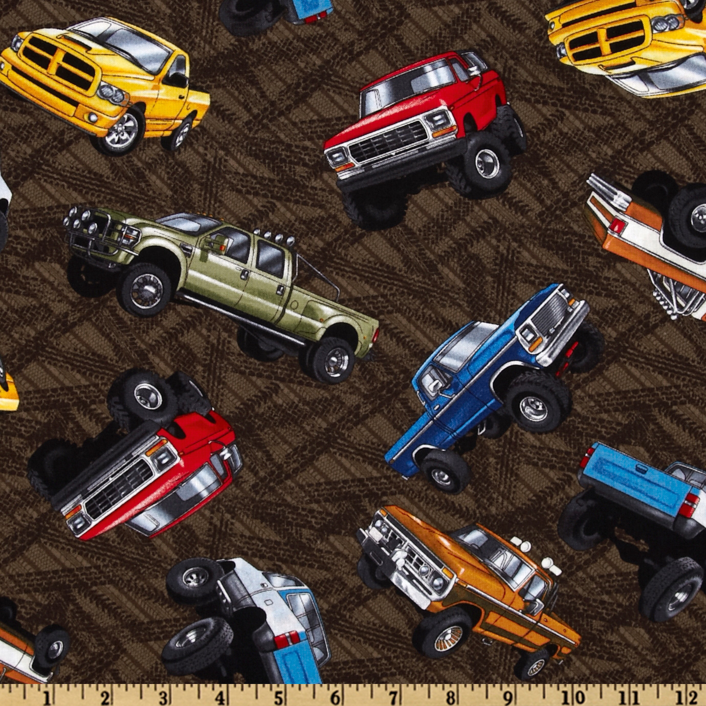 Extreme Sports Trucks Brown Fabric
