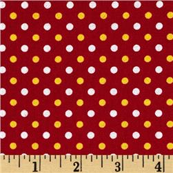 Fan-Tastic Dot Crimson/Gold
