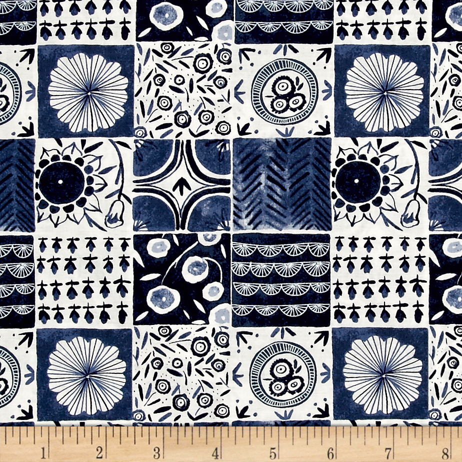 Dear Stella Tea Party Tablecloth Denim Fabric