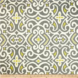 Dwell Studio New Damask Slub Greystone Fabric