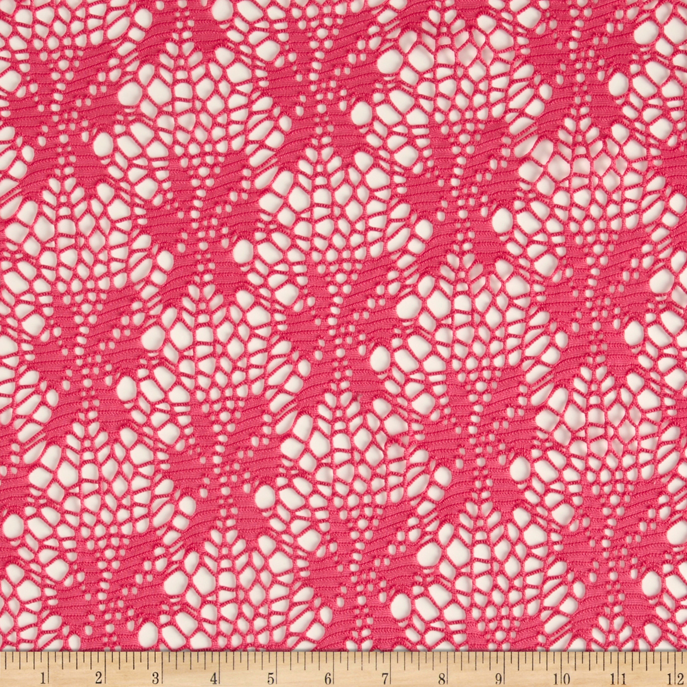 Floral Crochet Lace Hot Pink